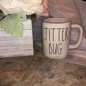 """2/$30 🎉🎉NWT Rae Dunn """"Jitter Bug"""" ceramic mug"""